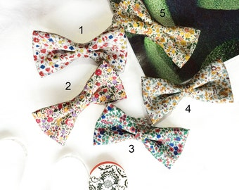 Wedding Set of 5 Floral Men's Bow Ties, Groomsmen Bow Ties, Mismatched Wedding Bow Ties