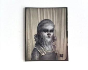 Farrah Fur Girl - vinyl silkscreen sticker - by Mab Graves -