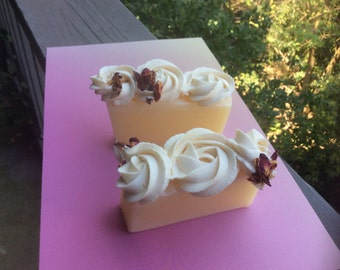 Rose  Bar  Soap | Artisan Soap | Luxury  Cupcakes Wedding Soaps