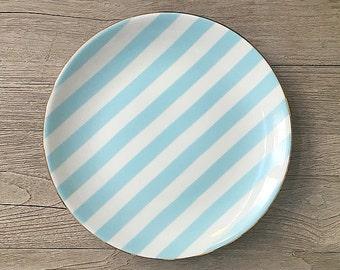 Blue Stripe Porcelain Plate