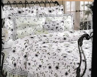 Simplicity Home 9088 Luxurious Bedding Duvet Cover,Dust Ruffle, Pillow Sham, Neck Pillow Cover