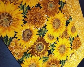 Autumn Placemats - Sunflower Placemats - Fall Placemats - Thanksgiving Placemats - Yellow Placemats - Reversible Placemats - Batik Placemats