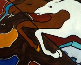 Taffy Horses, giclee