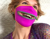 Jungle Fun zipper dust mask for kissing booths, Burning Man, raves, and dusty adventures