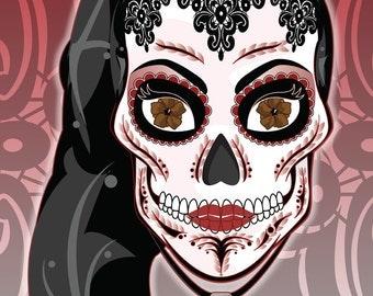 Regina Mills / Evil Queen Sugar Skull Print 11x17 print
