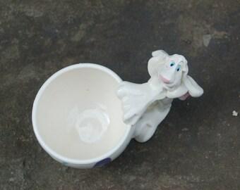 Michael Ezzell Art Pottery Bunny Rabbit Handled Mug / Drinking Cup Laguna Beach CA Signed