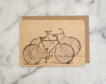 Bi-Cycles Maple wood card