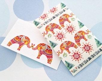 Elephant Mini Cards and Envelopes - Set of 10