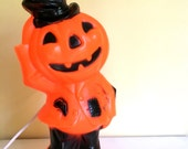 Vintage Empire Halloween Jack-O-Lantern, Light Up Plastic Blow Mold, 1969, Halloween Decor