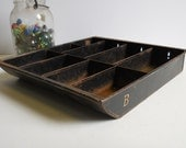 Vintage cash register drawer Metal tray storage compartments organize supplies containers box bins