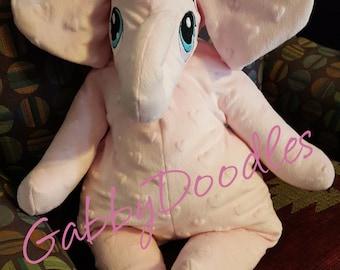 Pink Minkie Elephant - Ready to Ship
