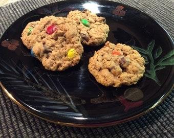 Monster Cookies, Edible Gift, Homemade, Chocolate Chip, Oatmeal, Peanut Butter, Gluten Free, Christmas, Birthday, Wedding Favor, Baked Goods