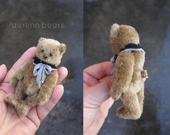 """Meeka, Miniature 4""""  Mohair Artist Teddy Bear  from Aerlinn Bears"""