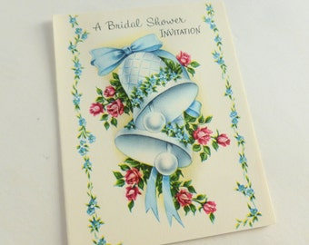 Bridal Shower Invitations Party Invites Lot of 10 Unused Mid Century Fill-in-the-Blank Cards