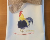 Kitchen Towel Rooster Good Morning Cotton Kitchen Decor