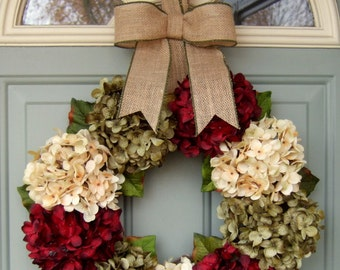 Christmas Wreath - Holiday Wreath - Red Berry Christmas Wreath