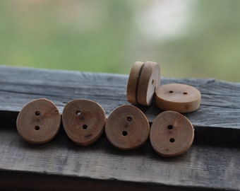 wood buttons •  set of 9 birch tree branch buttons • tree branch buttons