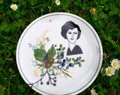Cake plate with Belle Dame Elise #1665