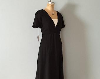 90s neo regency dress | black gauzy cape skirt and white dress