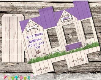 Dog Kennel Favour Box - Small Gift Box - Cake Pop Box - Weddings - Birthday - Display Box - Printable - Digital File