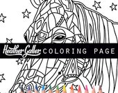 Horse coloring, Animal Art coloring book, adult coloring book, coloring pages, adult coloring pages, coloring book for adults, printable