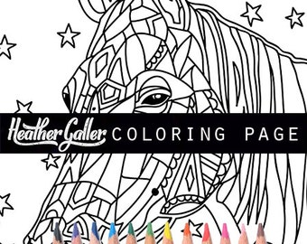 horse coloring animal art coloring book adult coloring book coloring pages adult - Shih Tzu Coloring Pages