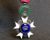 Order of the Crown Belgian medal. Knight's cross Ordre de la Couronne. RESERVED
