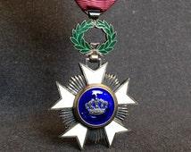 Order of the Crown Belgian medal. Knight's cross Ordre de la Couronne.