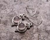 Rose Quartz Earrings, Silver Light Pink Drop Earrings, Rose Quartz Jewelry, Lightweight Gemstone Dangle Earrings, Delicate Everyday Earrings