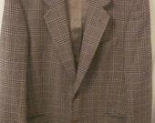 Valentino Classic Wool Plaid Jacket hip LARGE
