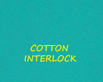 Robins Egg Blue, Interlock Knit, Double Jersey Fashion Fabric, Medium Weight Cotton, half yard, B20