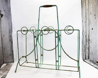 Vintage Magazine Rack, Magazine Newspaper Holder in Mint