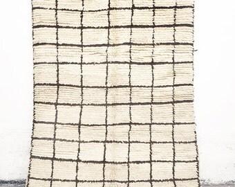 "BENI OUARAIN RUG - Vintage Moroccan Wool Rug - ""Square"""