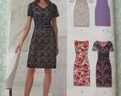 Misses Dress with Sleeve Variations Sizes 8 10 12 14 16 18 UNCUT New Look Pattern 6261
