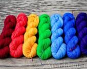 Dia Sock -Basic Rainbow- Colour Adventures (fibers: merino, nylon)