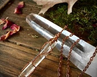 SALE-The Seer- Quartz Amulet