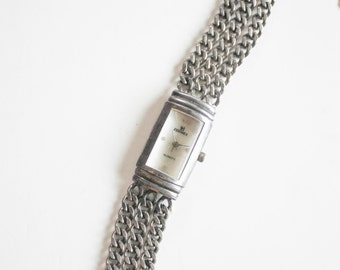 Silver Tone Chain Link Watch - Ladies