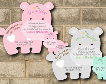 unique baby shower invitations  etsy, Baby shower invitations