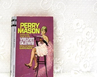 Perry Mason - The Case of the Velvet Claws - by Erle Stanley Gardner - paperback book - Pocket Book Edition