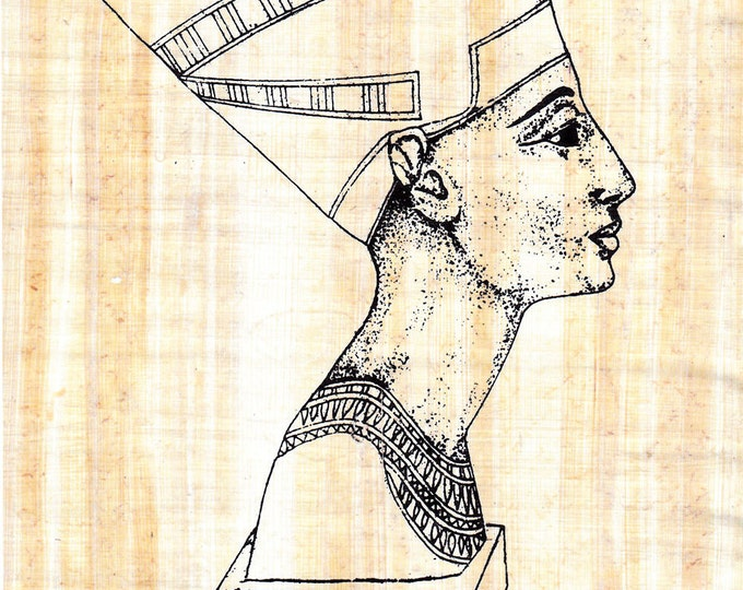 Color Queen Nefertiti on Papyrus! Kids, Adults everyone who loves to color! Genuine Egyptian Papyrus. Create your own works of art!