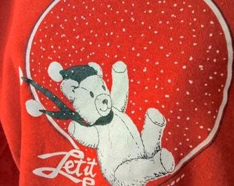 Let It Snow Vintage Winter Sweatshirt