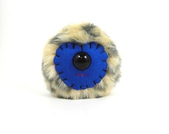 Plush Monster Toy Stuffed Monster Cyclops Monster Royal Blue Fabric Toy Ball Small Stuffed Monster Kawaii Plush Cute Juggling Ball Desk Toy
