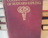 Collected Verse of Rudyard Kipling Published 1911 Antique English Poetry