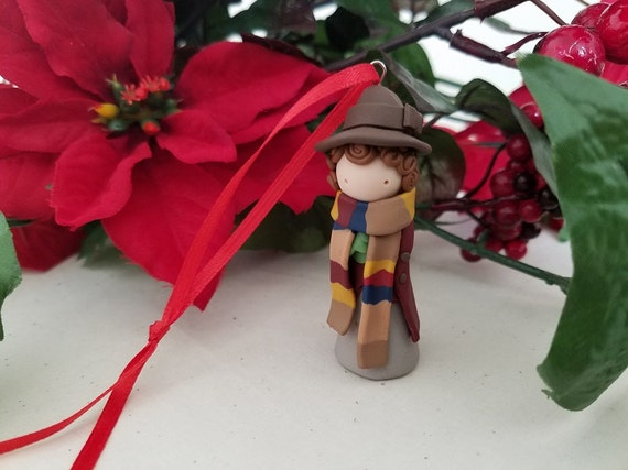 The Fourth Doctor Polymer Clay Christmas Ornament | Doctor Who Gift Guide