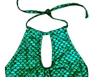 Green Mermaid Halter Top