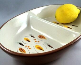 vintage stangl amber glo serving dish