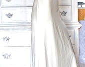 Vintage Empire Creamy White Evening Wedding Gown Silk Chiffon and Rhinestones Full Lenght