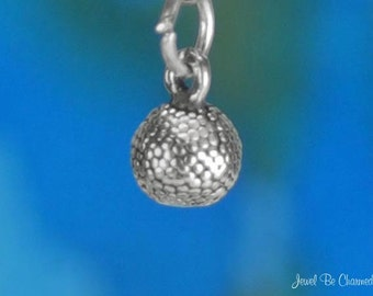 Sterling Silver Miniature Basketball Charm Ball Tiny 3D Solid .925