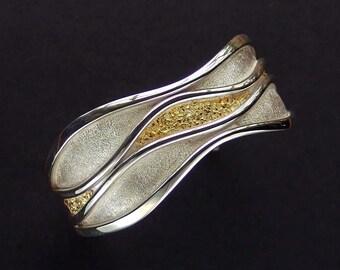 River of Gold Bracelet -  Alaskan Gold Nuggets & Sterling Silver