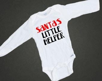 Santa's Little Helper Onesie. Holiday Baby Onesie. Free Shipping! Infant Hipster Bodysuit. Baby Shower Gift. Creeper. First 1st Christmas